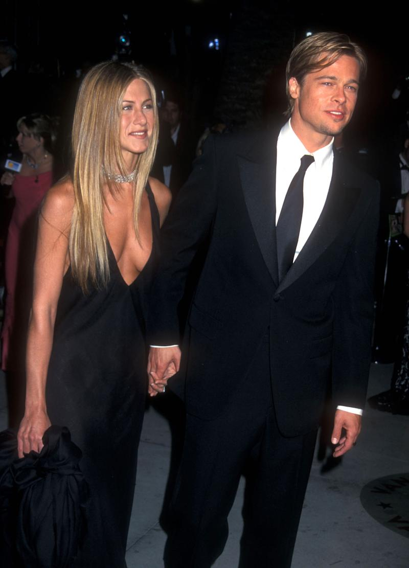 Jennifer Aniston & Brad Pitt (Photo by Barry King/WireImage)
