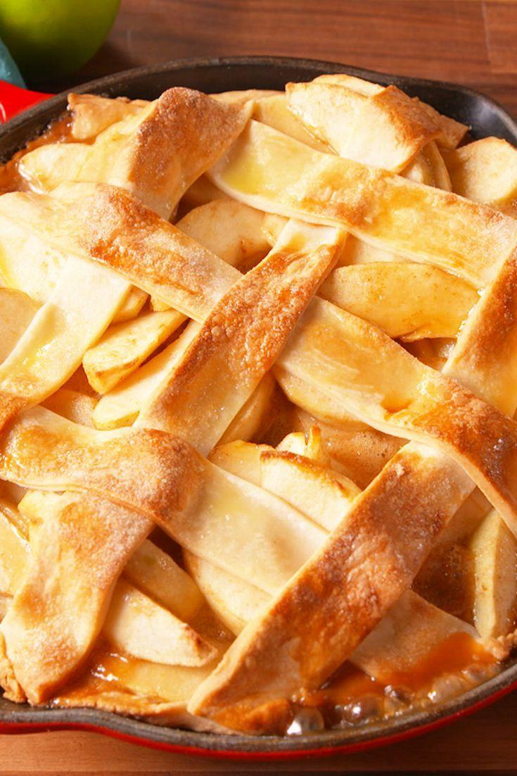"""<p>This is the easiest apple pie you've never made.</p><p>Get the recipe from <a href=""""https://www.delish.com/cooking/recipe-ideas/recipes/a50164/skillet-apple-pie-recipe/"""" rel=""""nofollow noopener"""" target=""""_blank"""" data-ylk=""""slk:Delish"""" class=""""link rapid-noclick-resp"""">Delish</a>.</p>"""