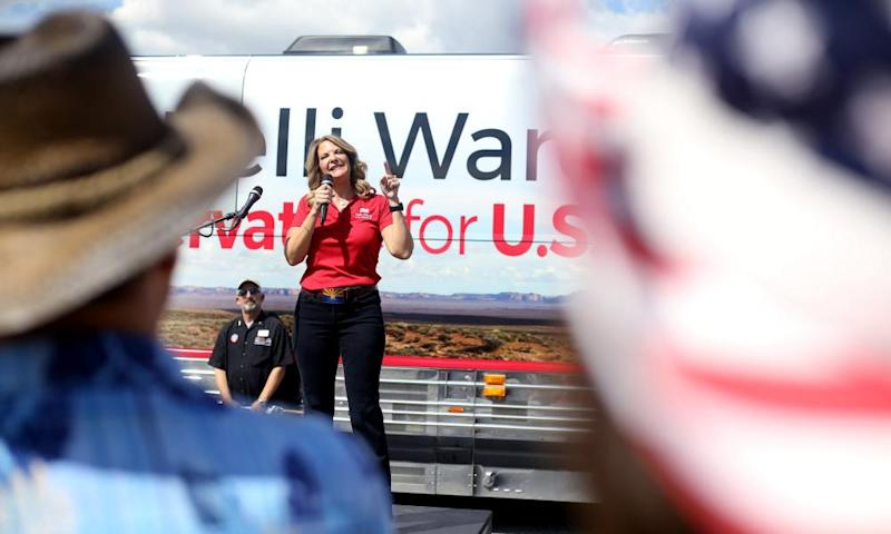 Candidate Kelli Ward on the campaign trail in Paulden, Arizona.