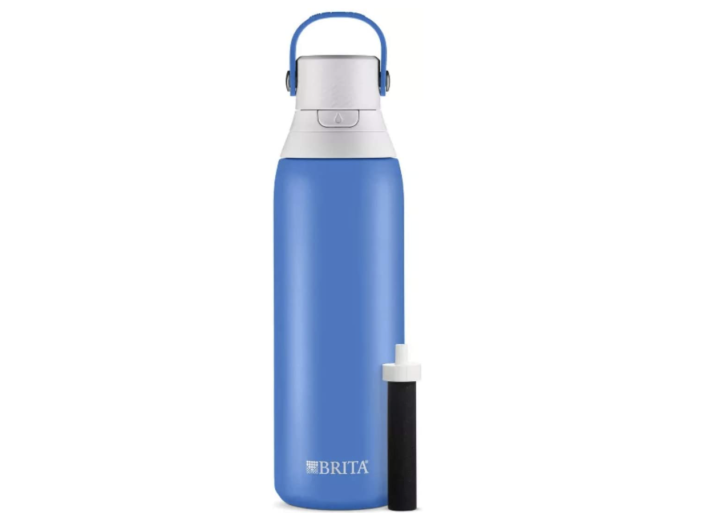 """<p><strong>Brita</strong></p><p>amazon.com</p><p><strong>$24.99</strong></p><p><a href=""""https://www.amazon.com/dp/B07QR6WZ9P?tag=syn-yahoo-20&ascsubtag=%5Bartid%7C2142.g.36364738%5Bsrc%7Cyahoo-us"""" rel=""""nofollow noopener"""" target=""""_blank"""" data-ylk=""""slk:Shop Now"""" class=""""link rapid-noclick-resp"""">Shop Now</a></p><p>There are water bottles and there's Brita Stainless Steel Filter bottle, which keeps drinks cool for 24 hours and makes tap water taste better thanks to its filter. </p><p><em>[<a href=""""https://www.runnersworld.com/gear/a20860369/best-water-bottles/"""" rel=""""nofollow noopener"""" target=""""_blank"""" data-ylk=""""slk:The Best Water Bottles for Runners"""" class=""""link rapid-noclick-resp"""">The Best Water Bottles for Runners</a>]</em></p>"""