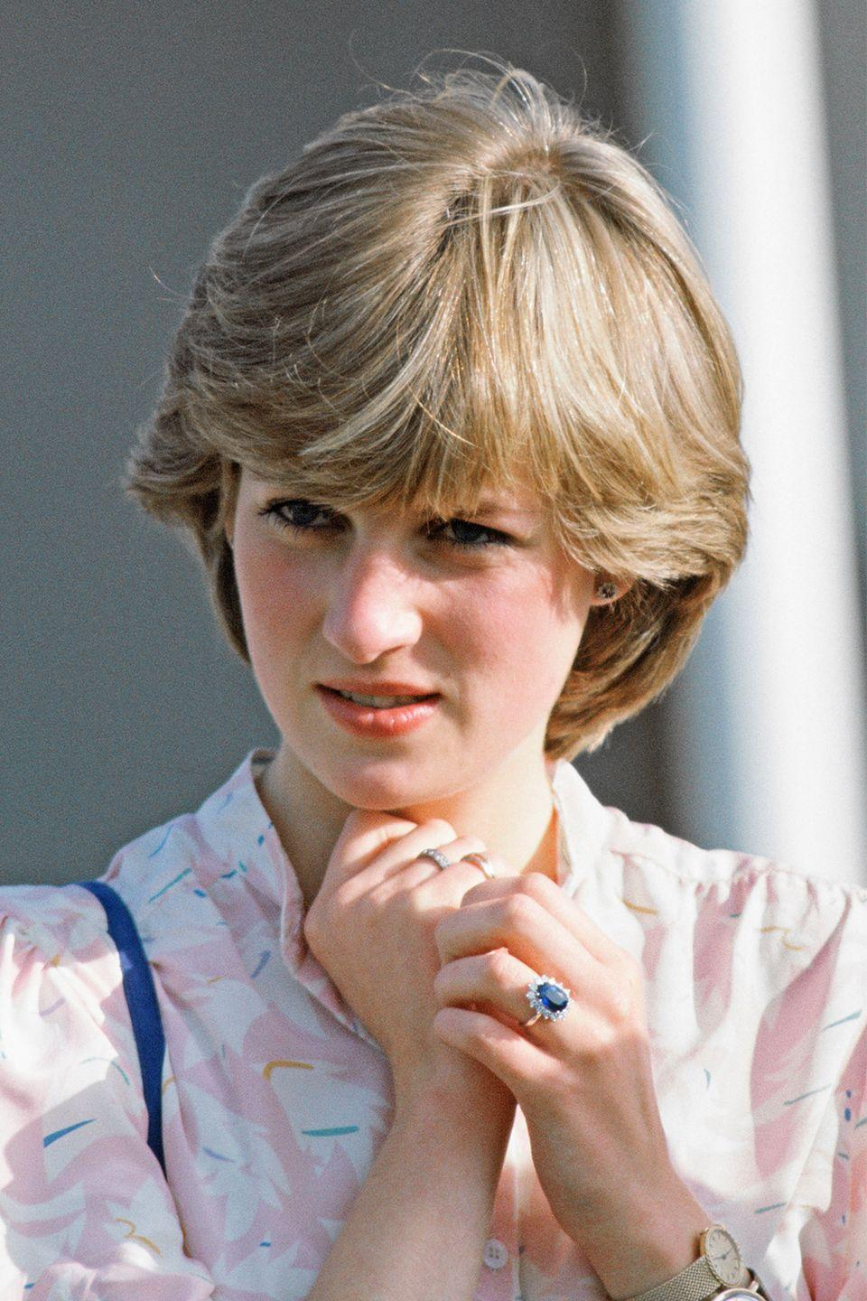 <p>Rather than creating a custom design or picking an heirloom piece, Lady Diana ordered her engagement ring straight from a Garrad's jewelry collection in 1981 (a.k.a. it was totally available to the public). The sapphire ring now sits on Kate Middleton's finger. </p>
