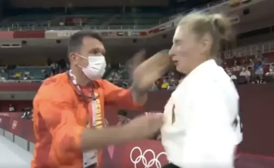 Martyna Trajdos defended her coach after video of the German judoka being violently shaken and slapped in the face  before her match went viral. (Instagram/Martyna_Trajdos)