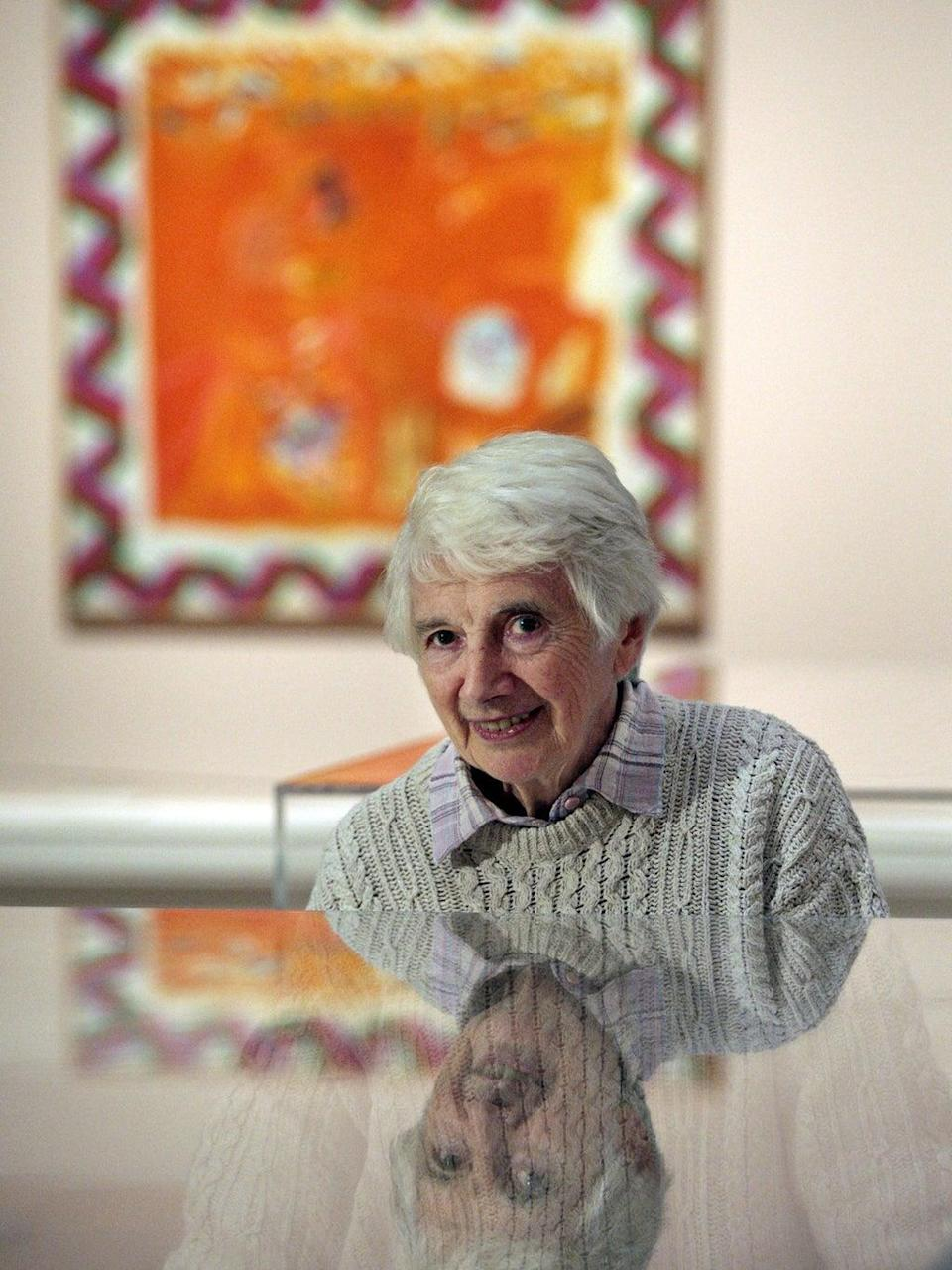 Blackadder attends her exhibition at the Scottish National Gallery, Edinburgh, in 2011 (PA)