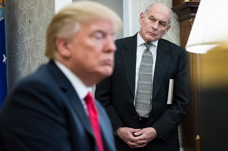 Trump Sort of Goes to Bat for John Kelly After Negative Report