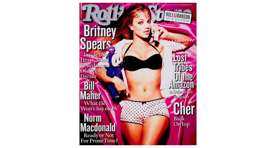 The pop star graced the cover of <em>Rolling Stone</em> magazine for the first time back in 1999 at just 17-years-old. The image sparked backlash from parents across the globe with many calling out the publication for its message.<em> [Photo: Rolling Stone]</em>