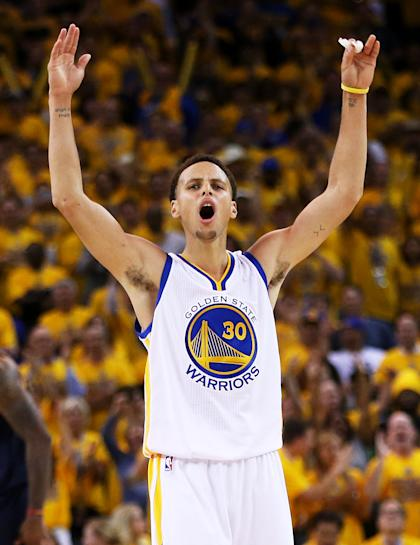 Stephen Curry scored 26 points in Game 1. (Getty Images)