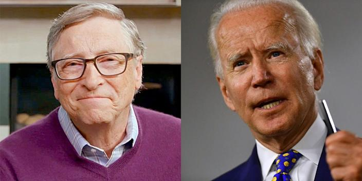 """Bill Gates said Joe Biden """"may want more expert advice"""" if he becomes the next president."""