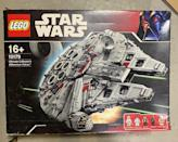 "<p>What was childhood without stepping on a LEGO piece and immediately screaming in pain after? Hardcore builders sought after the special-edition <em>Star Wars</em> creation called the Ultimate Collector's Millennium Falcon. It's currently going <a href=""https://go.redirectingat.com?id=74968X1596630&url=https%3A%2F%2Fwww.ebay.com%2Fitm%2FLEGO-Star-Wars-Ultimate-Collectors-Millennium-Falcon-10179-NIB%2F153965107386%3Fepid%3D70327387%26hash%3Ditem23d90918ba%253Ag%253AQiIAAOSwxH1d6b3o&sref=https%3A%2F%2Fwww.redbookmag.com%2Flife%2Fg34751269%2Fmost-expensive-valuable-2000s-toys-movies-games%2F"" rel=""nofollow noopener"" target=""_blank"" data-ylk=""slk:for $7,199.00 on eBay."" class=""link rapid-noclick-resp"">for $7,199.00 on eBay. </a> </p>"
