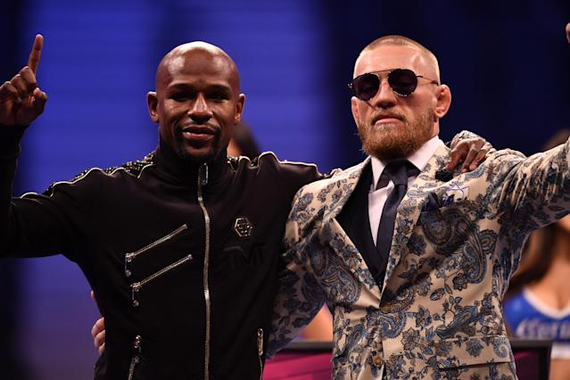 Floyd Mayweather Jr. and Conor McGregor made more money in one night than most athletes make in a year. (Getty Images)