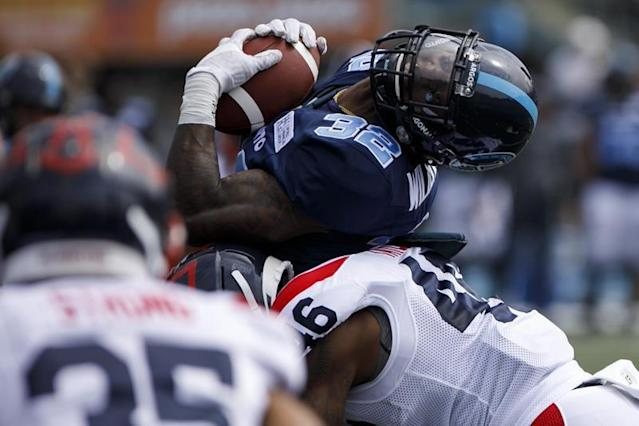 """TORONTO — James Wilder Jr. wants a piece of Simoni Lawrence.The Toronto running back can't wait to tangle with Lawrence on Saturday when the Argos host arch-rival Hamilton in their season opener. Lawrence will start at linebacker for the Tiger-Cats while he appeals a two-game suspension levied by the CFL on Monday for hitting Saskatchewan quarterback Zach Collaros in the head last week.Lawrence received a 25-yard penalty for contacting a sliding Collaros early in Hamilton's 23-17 home victory. The Riders placed Collaros on the six-game injured list Sunday.""""The hit, personally, wasn't clean to me,"""" a candid Wilder Jr. said Friday. """"We want to protect our quarterbacks, we want it to be a safe game for our quarterbacks.""""But for me, selfishly, I'm happy he appealed it because we have the opportunity to play against them at their best. He makes their defence better and I want a piece of him.""""However, it's not like Wilder. Jr. needs any extra incentive to get up for a game against the hated Ticats.""""It's no secret we don't really like them and they don't like us,"""" Wilder. Jr. said. """"It's a rivalry that goes way back and we want to continue it with another win.""""The contest will be Corey Chamblin's first as Toronto's head coach. Chamblin served as the Argos defensive co-ordinator during their Grey Cup-winning 2017 season then returned to replace Marc Trestman, who was fired, in the off-season.Chamblin, who has another Grey Cup ring as Saskatchewan's head coach in 2013, downplayed the significance of having to speak to Wilder Jr. to not let the Lawrence situation become a detriment.""""At the end of the day whether I talk to him or not, those guys are going to do it,"""" he said. """"They're tweeting and texting each other and that's part of the game.""""But at the end of the day if he's man enough to talk it, he better be man enough to walk it. At the end of the day there's only going to be one of those guys that wins and hopefully it's James but that's part of the game.""""In theory, the """