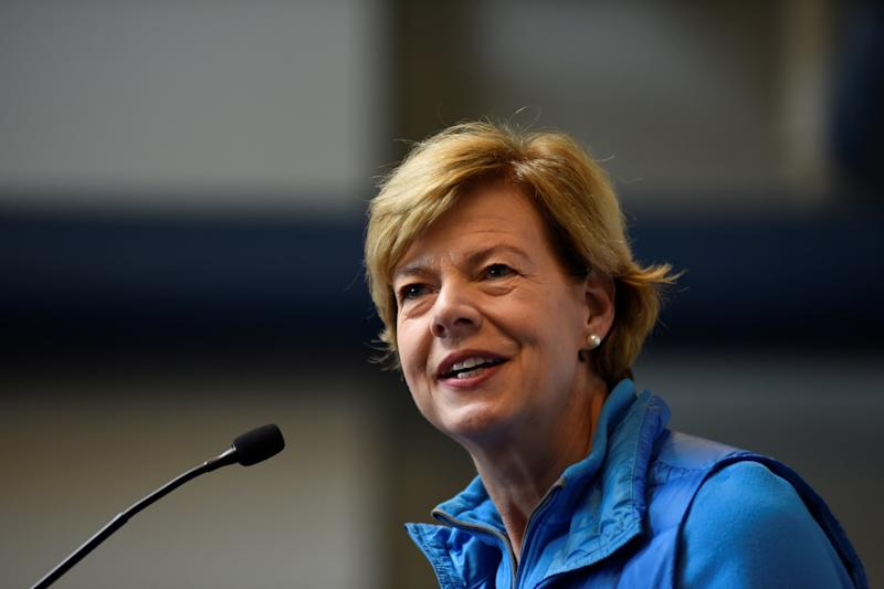 U.S. Senator Tammy Baldwin (D-WI) speaks at a campaign event in Beloit, Wisconsin, U.S., November 5, 2018. REUTERS/Nick Oxford