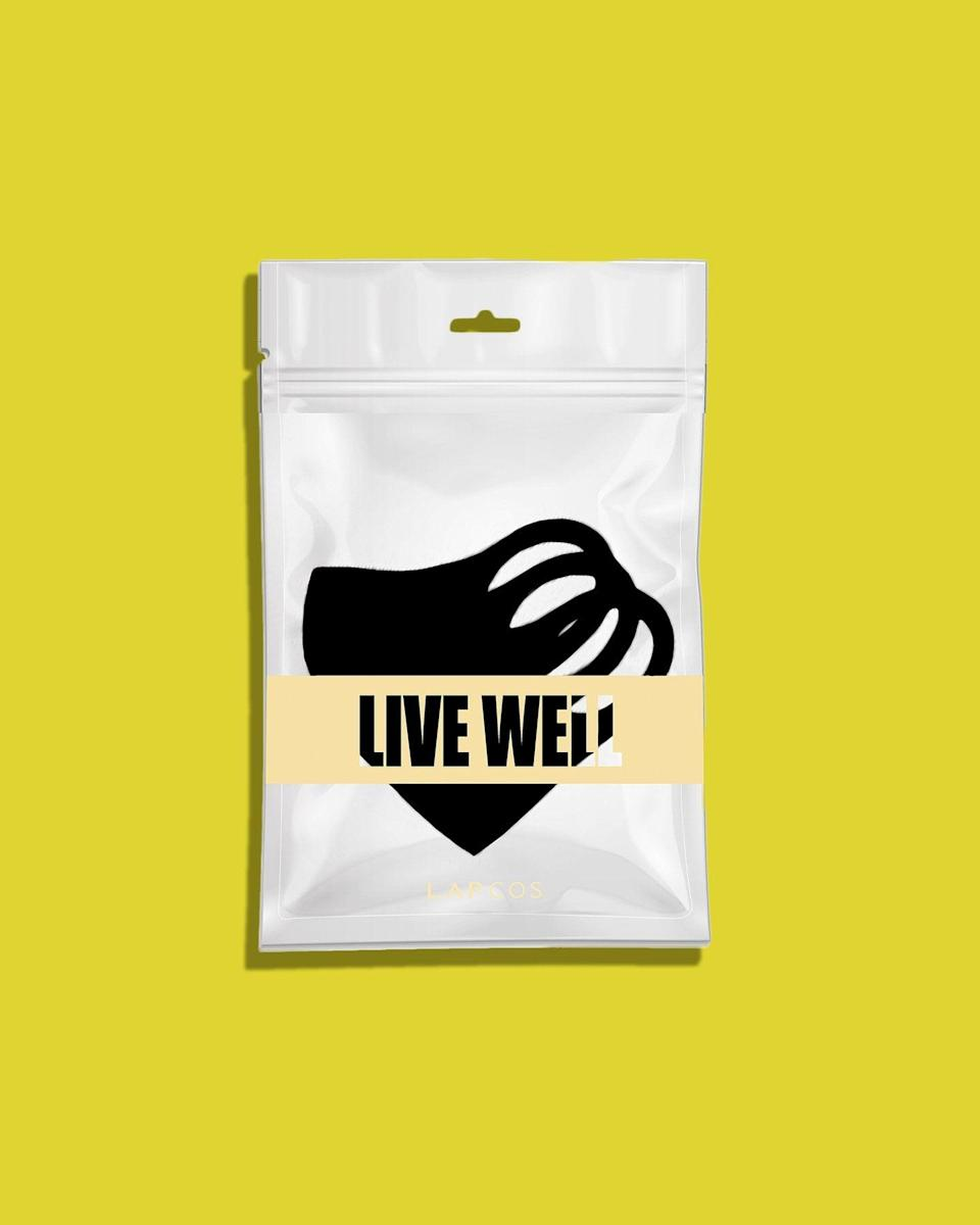 <p>This eco-conscious <span>Live Well Facemask Set</span> ($9 for three) provides 99.9 percent UV protection and is specially made to guard against skin irritation. In addition, the brand has donated 3,000 fabric face masks to local homeless centers in LA and New York.</p>