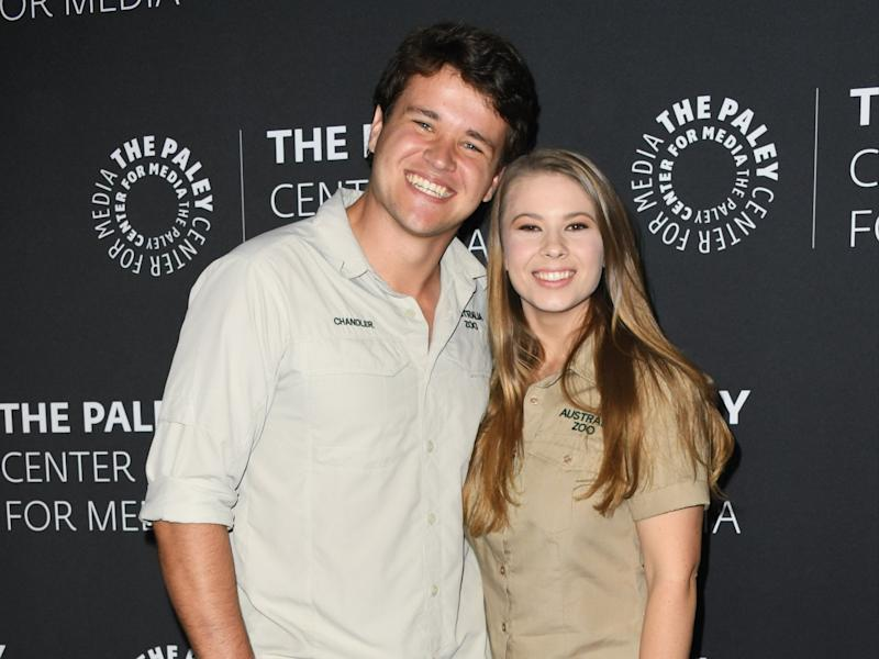 Bindi Irwin and Chandler Powell announce they are having a baby girl (Getty Images)