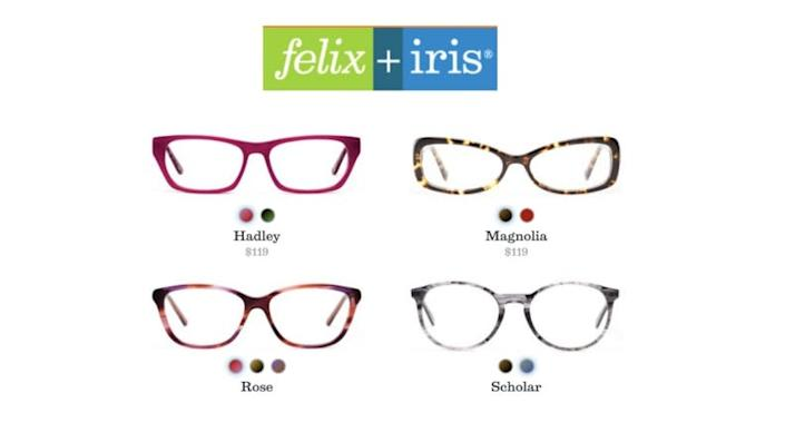Find your frames with Felix + Iris.