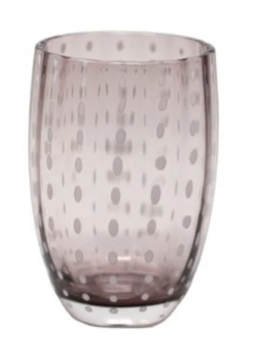 """<p><strong>Paloma & Co. </strong></p><p>shoppalomaandco.com</p><p><strong>$28.00</strong></p><p><a href=""""https://shoppalomaandco.com/collections/tabletop/products/handblow-italian-glass-amethyst"""" rel=""""nofollow noopener"""" target=""""_blank"""" data-ylk=""""slk:Shop Now"""" class=""""link rapid-noclick-resp"""">Shop Now</a></p><p>Get the look with Paloma's favorite amethyst handblown glasses discovered in a beloved Italian restaurant while visiting Paris.</p>"""