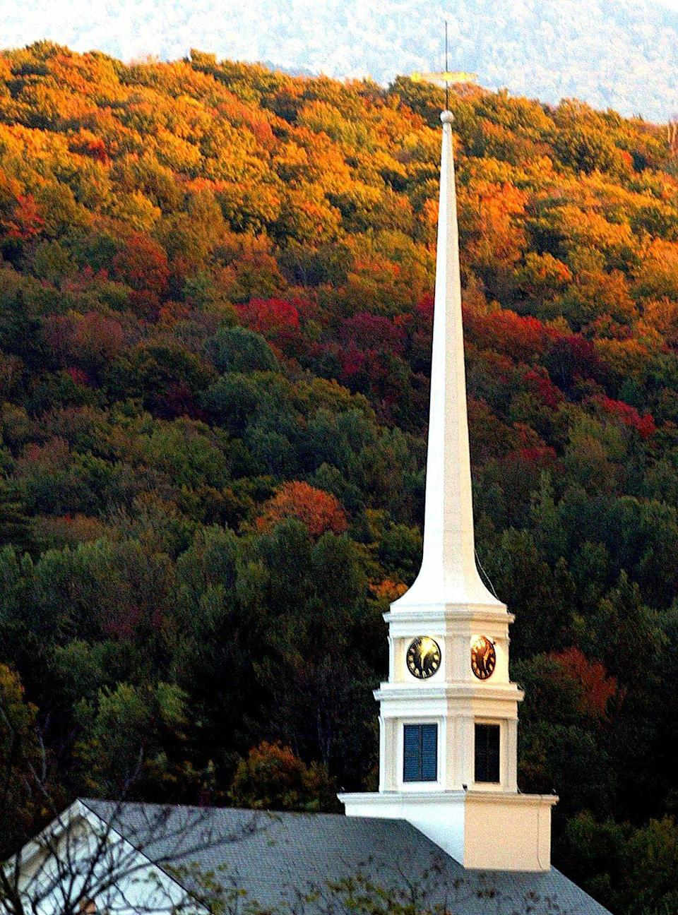 """<p>Most people travel to the area for the popular Mount Mansfield during the winter season. But months before, you'll want to check out the fall foliage in this small town. </p><p><strong>RELATED:</strong> <a href=""""https://www.goodhousekeeping.com/life/entertainment/g3835/best-fall-books/"""" rel=""""nofollow noopener"""" target=""""_blank"""" data-ylk=""""slk:20 New Fall Books You Have to Read This Season"""" class=""""link rapid-noclick-resp"""">20 New Fall Books You Have to Read This Season</a><br></p>"""