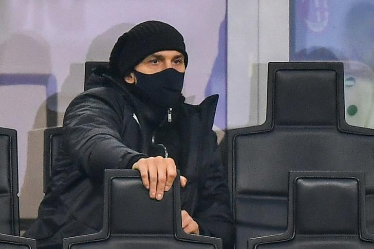 Ibrahimovic watched from the stands at the San Siro
