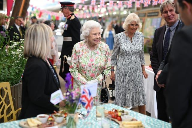 The Queen met people from communities across Cornwall at the Eden Project in celebration of The Big Lunch initiative