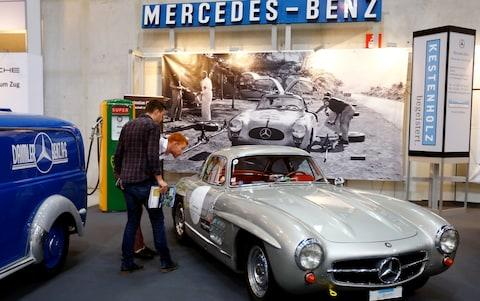 "A Mercedes-Benz 300 SL ""Gullwing"" sports car is shown at the Swiss Classic Car vintage automobile fair in Luzern, Switzerland May 28, 2017. Picture taken on May 28, 2017. REUTERS/Arnd Wiegmann"