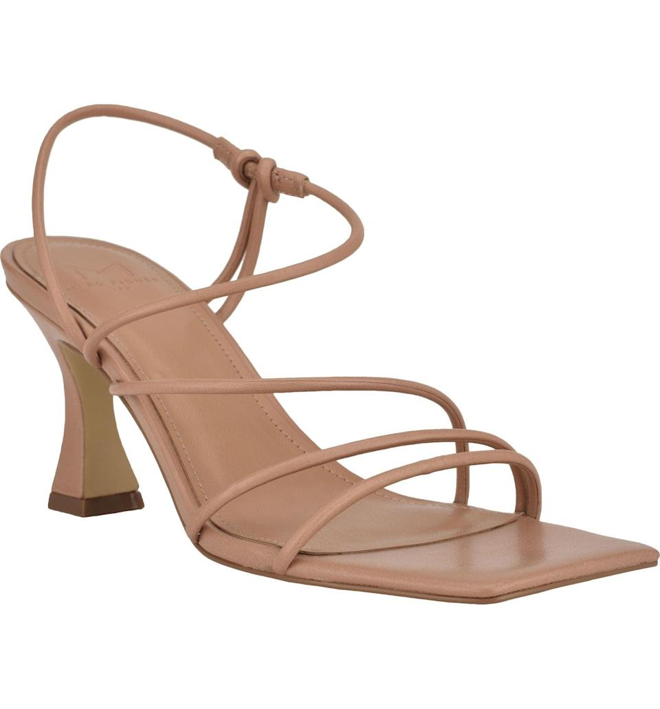 <p>This <span>Marc Fisher Dami Strappy Sandal</span> ($120) will go with just about any outfit.</p>