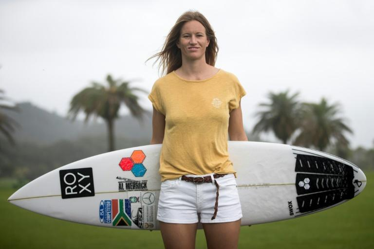 "Bianca Buitendag is one of those surfers who exudes zen-like calm and looks at one with the ocean, but qualifying for the Tokyo Olympics has left the South African completely ""overwhelmed"", she tells AFP in Miyazaki"