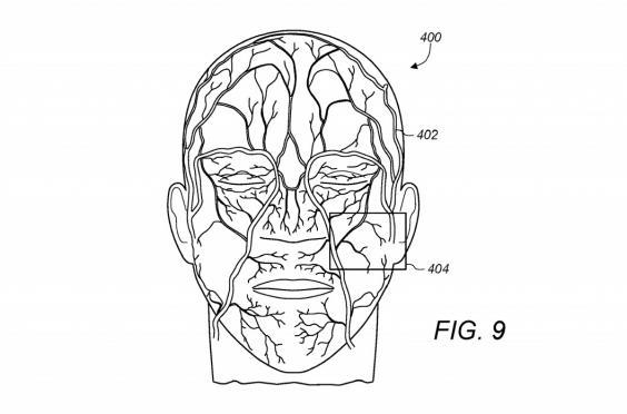 An image from Apple's patent for a new type of facial recognition system (USPTO)