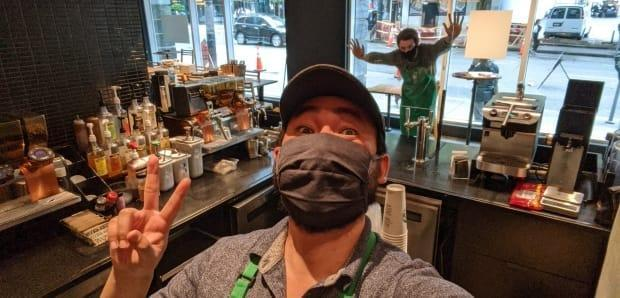 Hobson Lin says he tested positive for the coronavirus on March 3 after his shift at a Yaletown Starbucks.