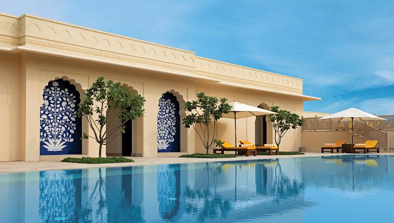 Known for its extravagant hotels in India and beyond, the Oberoi Group unveiled its first destination spa in March with the debut of Oberoi Sukhvilās Resort & Spa (oberoihotels.com). The soothing retreat sits in the forested foothills of the Himalayas, just outside the modernist northern Indian city of Chandigarh. Its 60 guest rooms, villas, and luxury tents are scattered among 25 acres of manicured lawns and reflecting ponds.