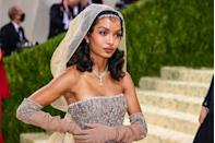 <p>The actress channelled American-born French entertainer Josephine Baker, with her hairstyle featuring the performer's signature kiss curl. Shahidi's make-up was another pink eye moment for the red carpet, her take on it oozing romance. </p>