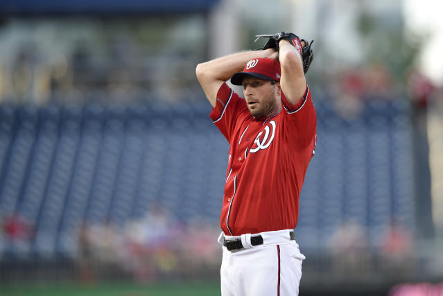 Max Scherzer will lead a very good Nationals starting rotation into October. (AP Photo/Nick Wass)