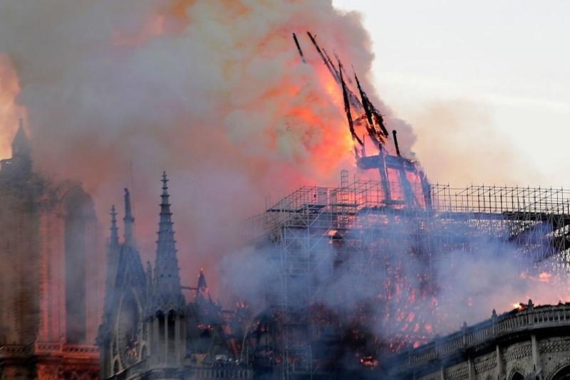 The burning of Notre Dame Cathedral in Paris | IAN LANGSDON/EPA-EFE/Shutterstock