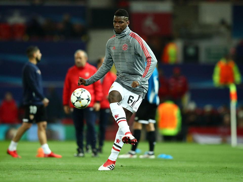 Paul Pogba in training with United (Getty)