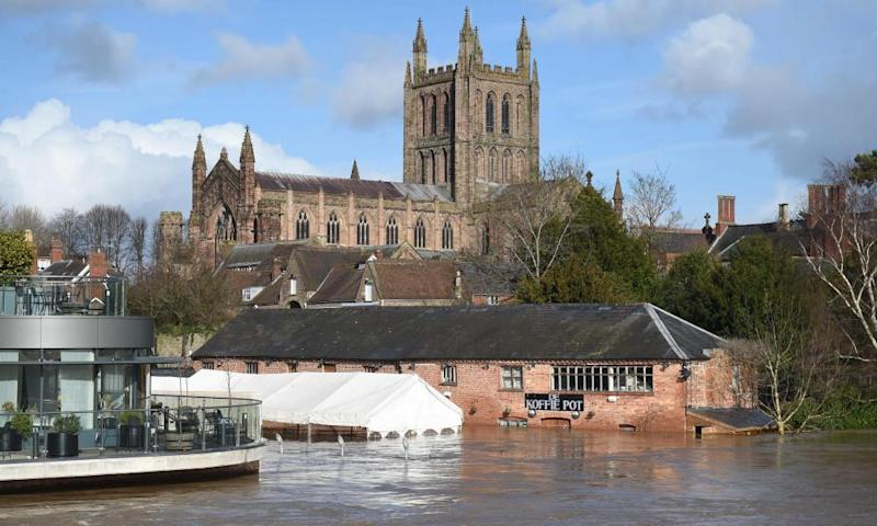 Flooding from the River Wye in Hereford