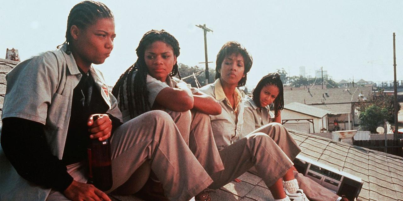 """<p>Queen Latifah, Vivica A. Fox, Jada Pinkett Smith, and Kimberly Elise play a group of friends who find themselves at the mercy of <a href=""""https://www.cambridge.org/core/journals/politics-and-gender/article/intersectional-violence-against-women-in-politics/857778003CD6AB6448FC30DBC1F34416"""" target=""""_blank"""">intersectional violence</a>, turning to robbing banks as their only way of dealing. F. Gary Gray's 1996 heist thriller isn't just essential Black feminist viewing, though, it's seminal feminist viewing as a whole that captures the stories of working-class women and does so in an incredibly entertaining, compassionate, and empathetic way.</p><p>Watch on amazon.com, $3 to rent, $10 to own. <a class=""""body-btn-link"""" href=""""https://www.amazon.com/Set-Off-Jada-Pinkett/dp/B00VHQ8VCU?tag=syn-yahoo-20&ascsubtag=%5Bartid%7C10056.g.19037519%5Bsrc%7Cyahoo-us"""" target=""""_blank"""">WATCH</a></p>"""
