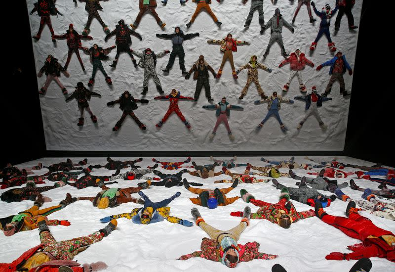 FILE PHOTO: Models present creations from the Moncler Autumn/Winter 2018 collection during Milan Fashion Week in Milan