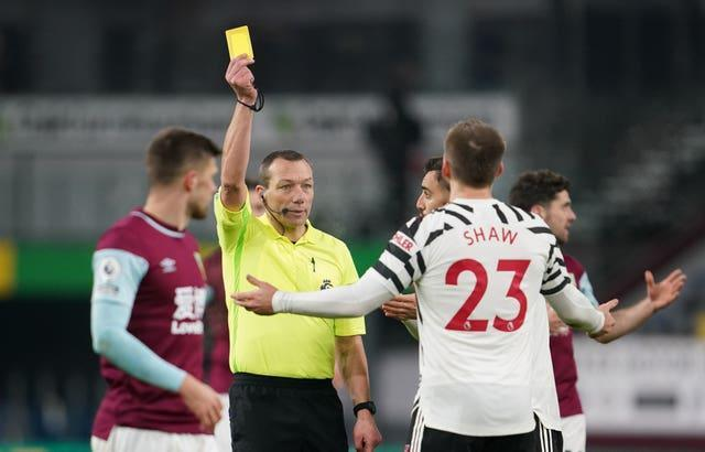 Luke Shaw was booked
