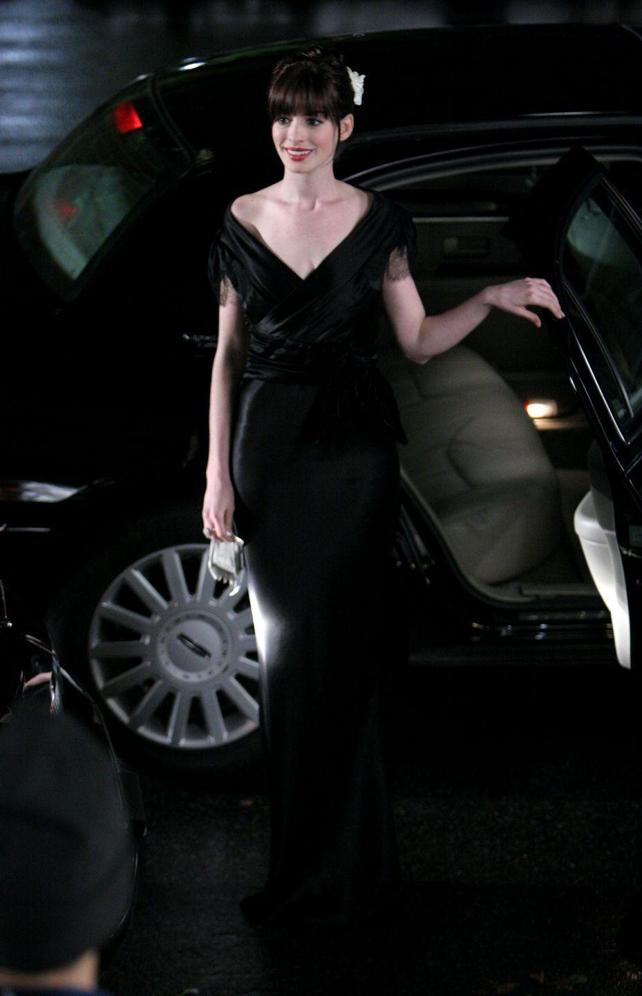<p>Throughout <em>The Devil Wears Prada, </em>we see Andrea Sachs transition from anti-fashion to the bon vivant who scored a pair of the new Chanel boots. But the outfit that stood out most from the movie (post-makeover, of course) is the black silk Valentino gown she wears to <em>Runway</em>'s charity gala.  </p>
