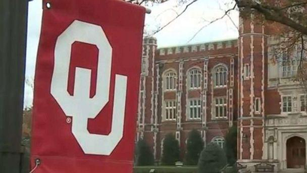 PHOTO: A banner hangs on the campus of the University of Oklahoma in Norman, Okla. (KOCO)