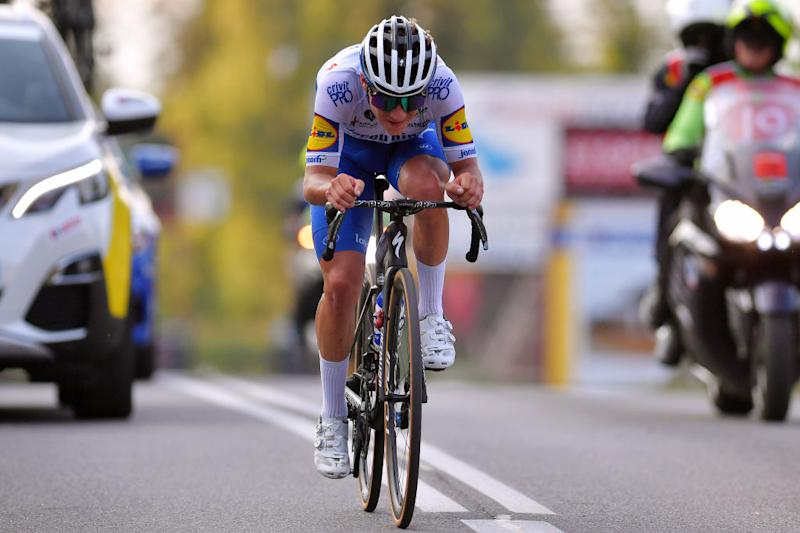 The young Belgian has an aerodynamic position