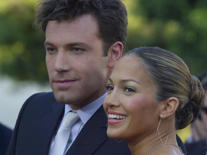 Ben Affleck and Jennifer Lopez's relationship was a tabloid obsession in the early noughties. (Chris Weeks/FilmMagic)