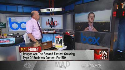 Jim Cramer spoke with Aaron Levie, the co-founder, chairman and CEO of Box, who criticized the president's comments on a fatal Virginia protest.