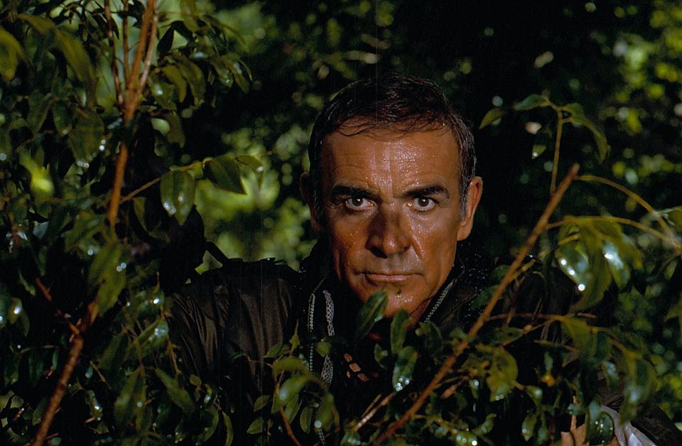 Actor Sean Connery in a scene from the film 'Never Say Never Again', 1983. (Photo by Stanley Bielecki Movie Collection/Getty Images)