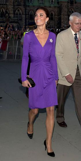 Kate Middleton wears purple Issa dress