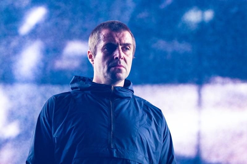 Liam Gallagher performs at The O2 Arena on November 28, 2019 in London, England. (Photo by Lorne Thomson/Redferns)