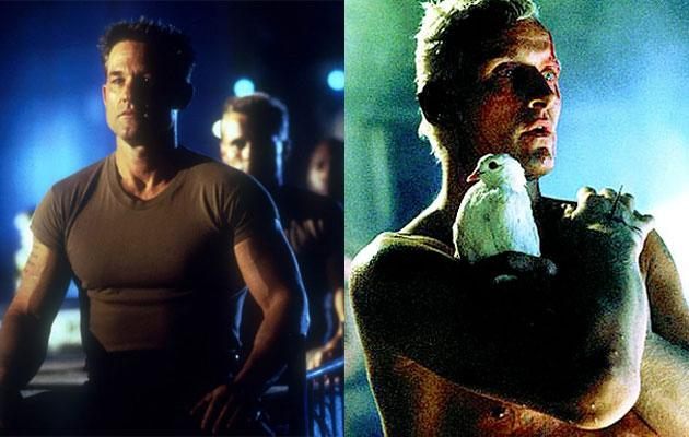 """Soldier"" — Did you know that the guy who made the ""Resident Evil"" movies made an unofficial sequel to Ridley Scott's ""Blade Runner""? Director Paul W.S. Anderson's 1998 action movie ""Soldier"" starred Kurt Russell as a genetically engineered super soldier, much like Rutger Hauer's ""Blade Runner"" replicant Roy Batty, and the film was actually set in the same fictional future as the 1982 Harrison Ford sci-fi classic. Screenwriter David Peoples wrote both films and called ""Soldier"" a ""sidequel"" and spiritual successor to ""Blade Runner."" As such, the film included numerous references to events and technology either seen or talked about in ""Blade Runner."""