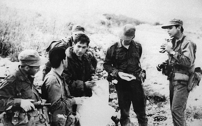 Mr Netanyahu during his army service in a special force in 1976 - AFP