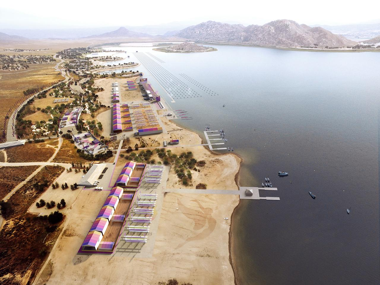 <p>Rowing at Lake Perris. (Photo courtesy of LA2024) </p>