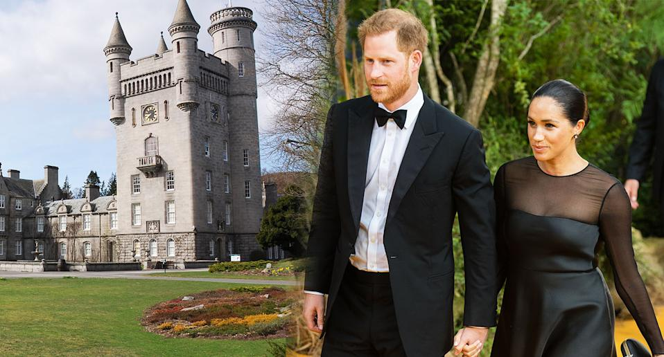Meghan Markle and Prince Harry will reportedly not be visiting Balmoral this year. [Photo: Getty]