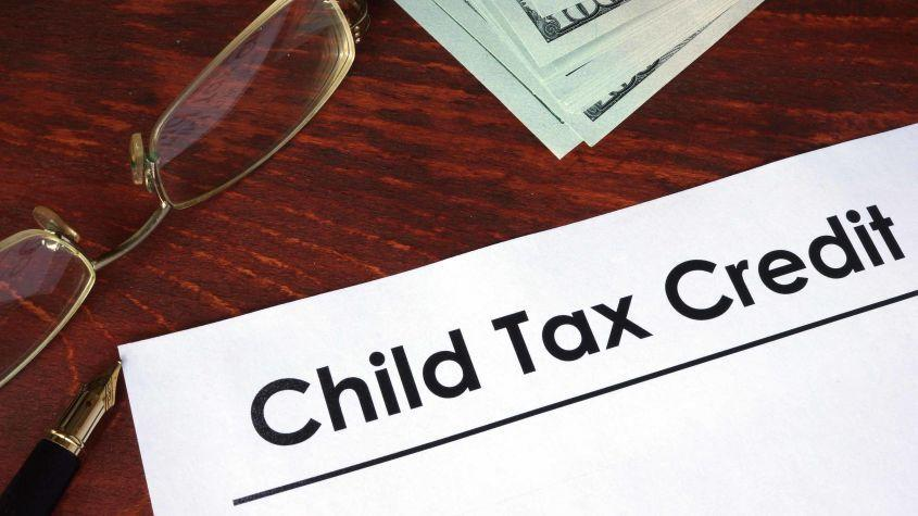 """picture of a piece of paper with """"child tax credit"""" written on it"""