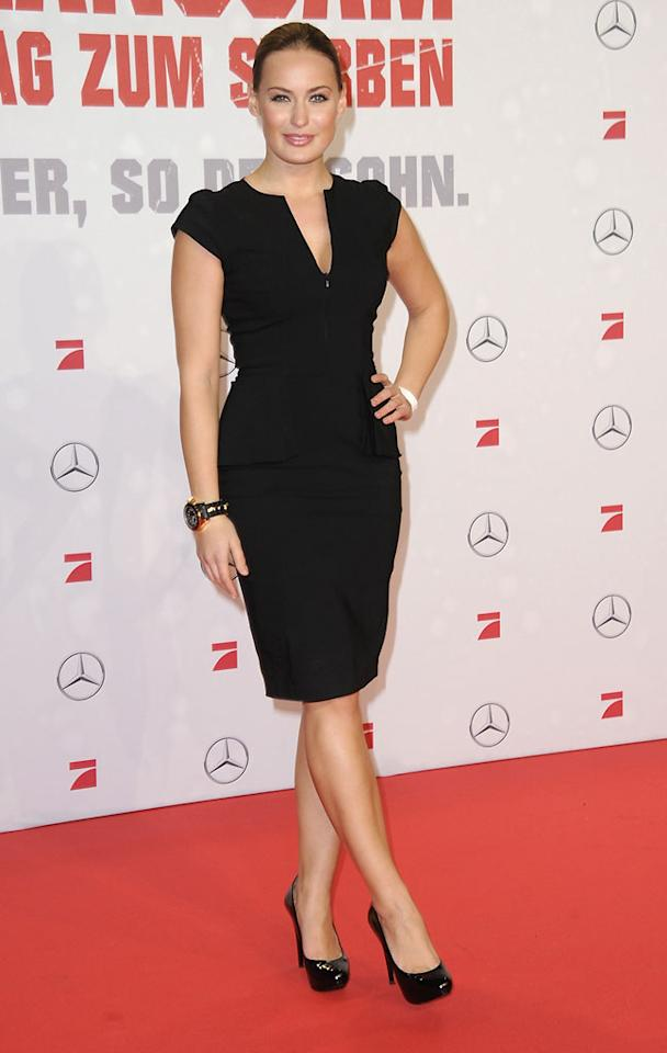 BERLIN, GERMANY - FEBRUARY 04:  Anna Julia Hagen attends the premiere of 'Die Hard - Ein Guter Tag Zum Sterben' at Sony Center on February 4, 2013 in Berlin, Germany.  (Photo by Luca Teuchmann/WireImage)